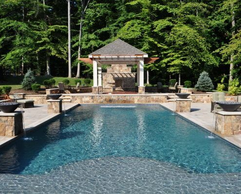 Inground Swimming Pool, Fire Bowls, Pavilion, Arden on the Severn MD