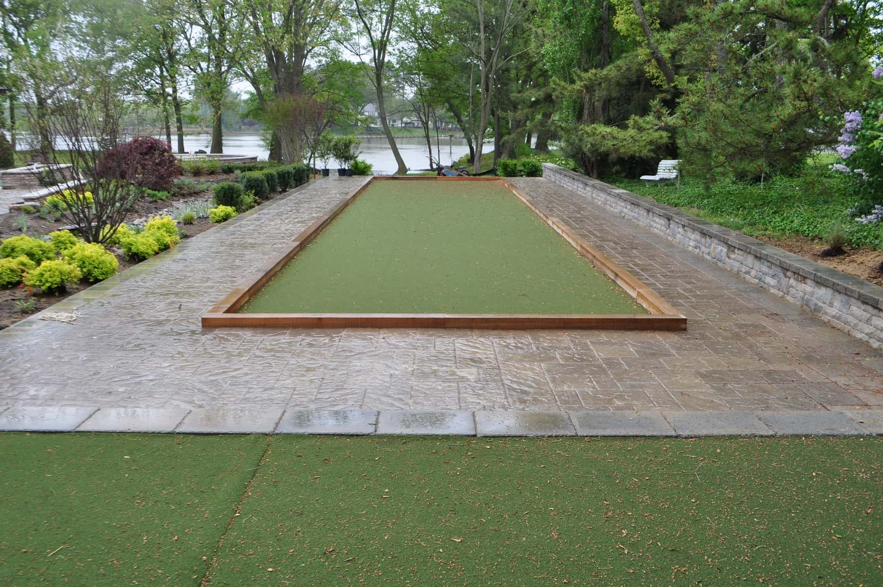 Bocce Ball Court, Paver Stone Patio, Baltimore MD