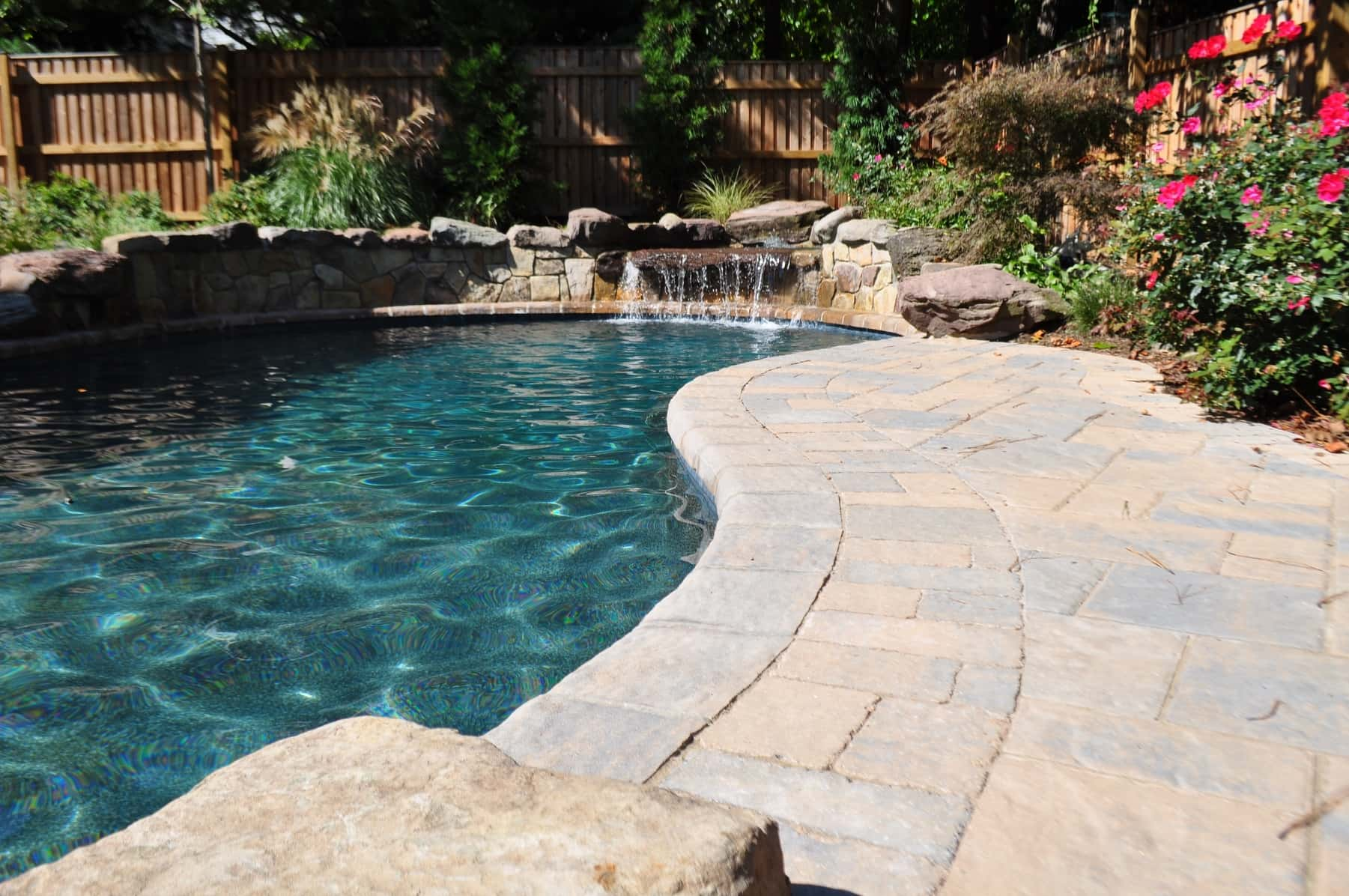 Custom In-ground Pool, Paver Stone Pool Deck, Baltimore