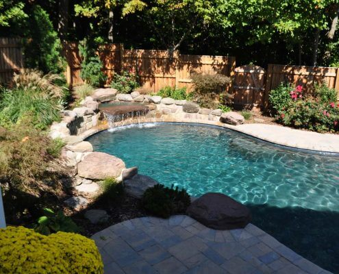 Custom In-ground Pool, Water feature, Baltimore MD