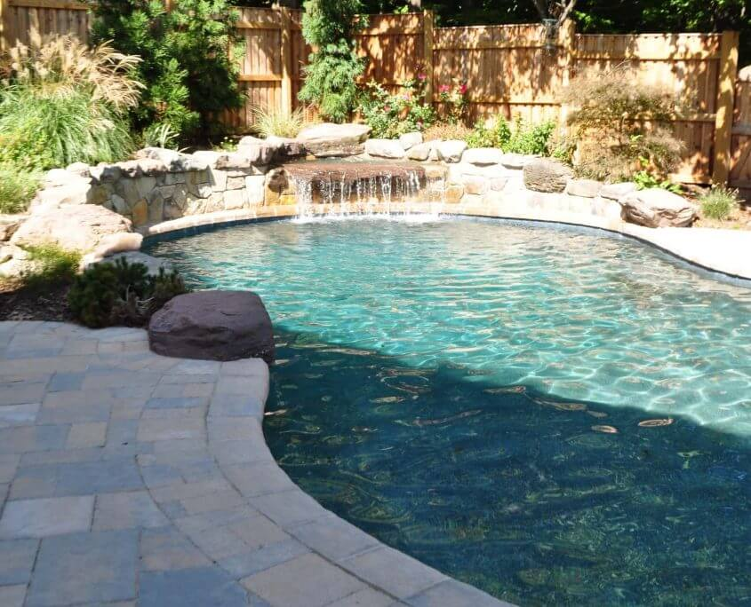 Custom In-ground Pool-Waterfall, Baltimore MD