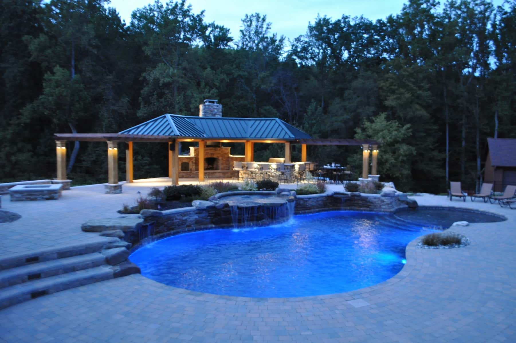 Freeform Pool Landscape Lighting Washington DC