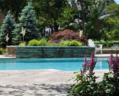 Inground Swimming Pool, Waterfall, Baltimore MD