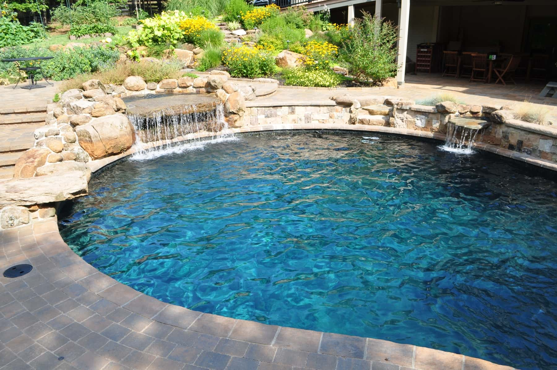 Water Features, Waterfalls, custom designed pool, DC