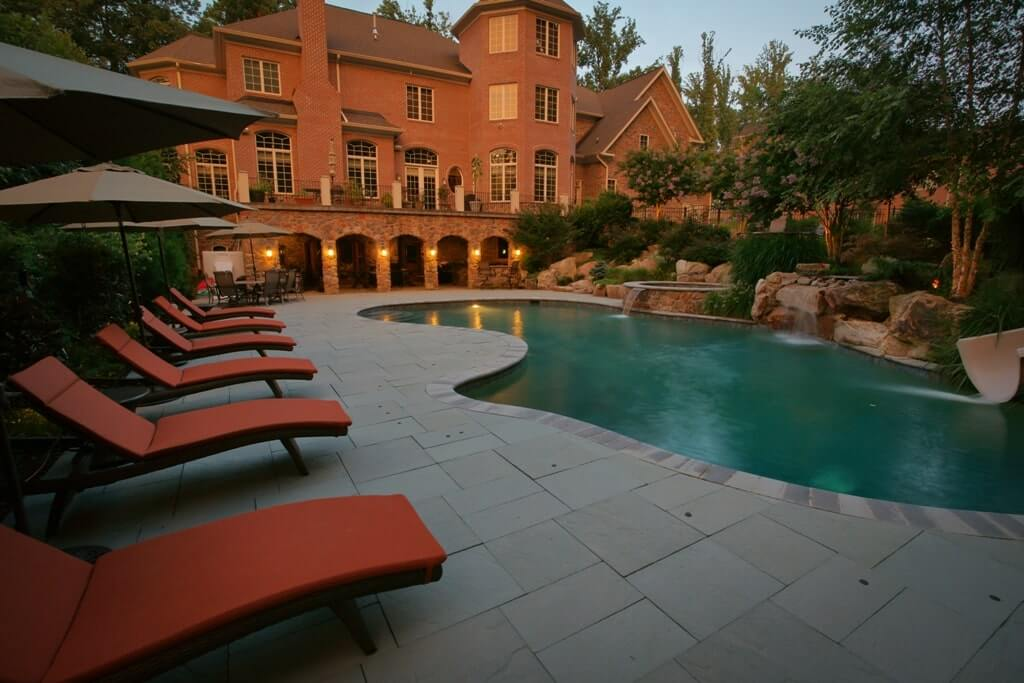 Custom Pool With Spa And Paver Patio