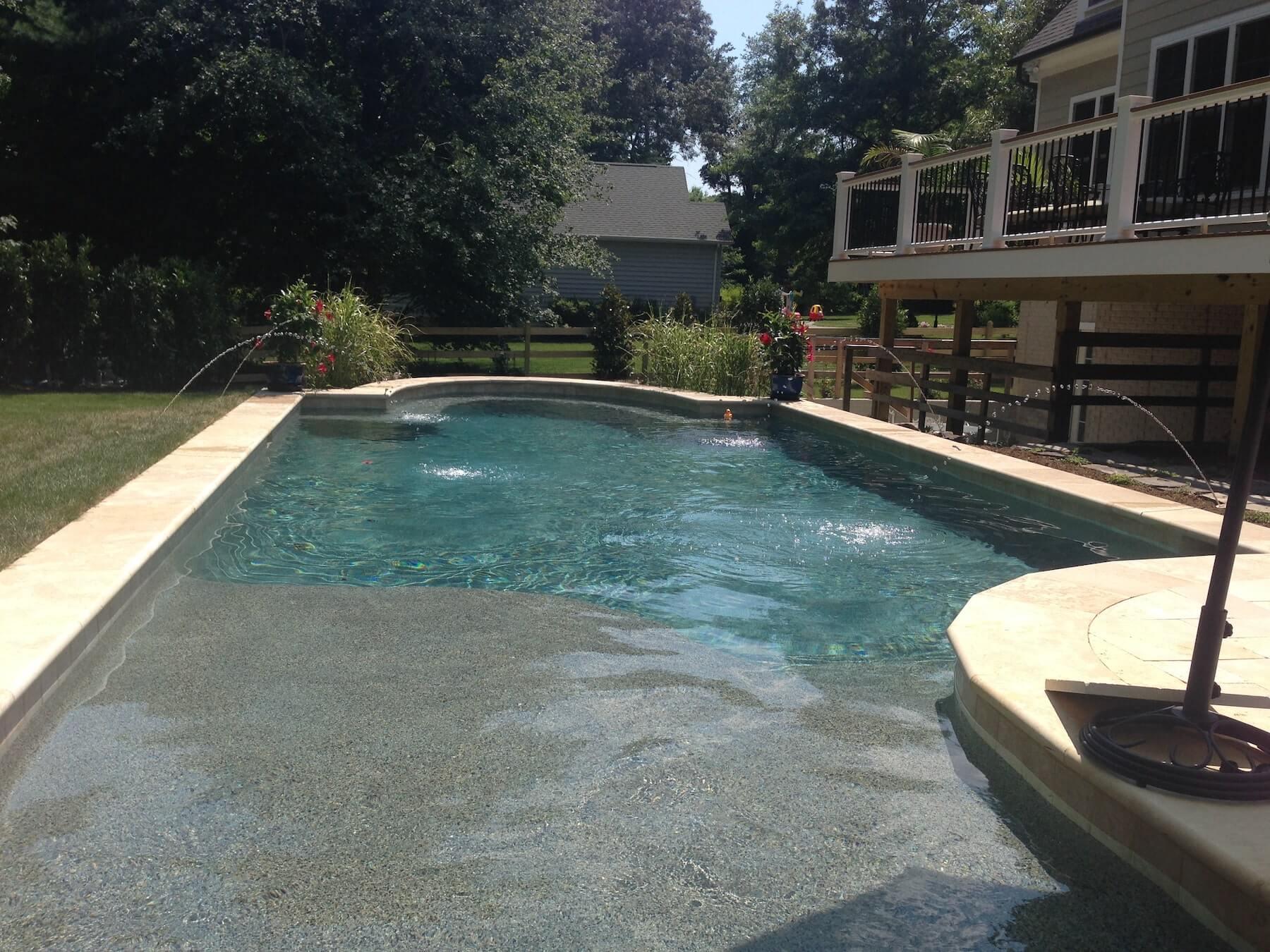Custom Inground Pool With Pavers Severna Park MD