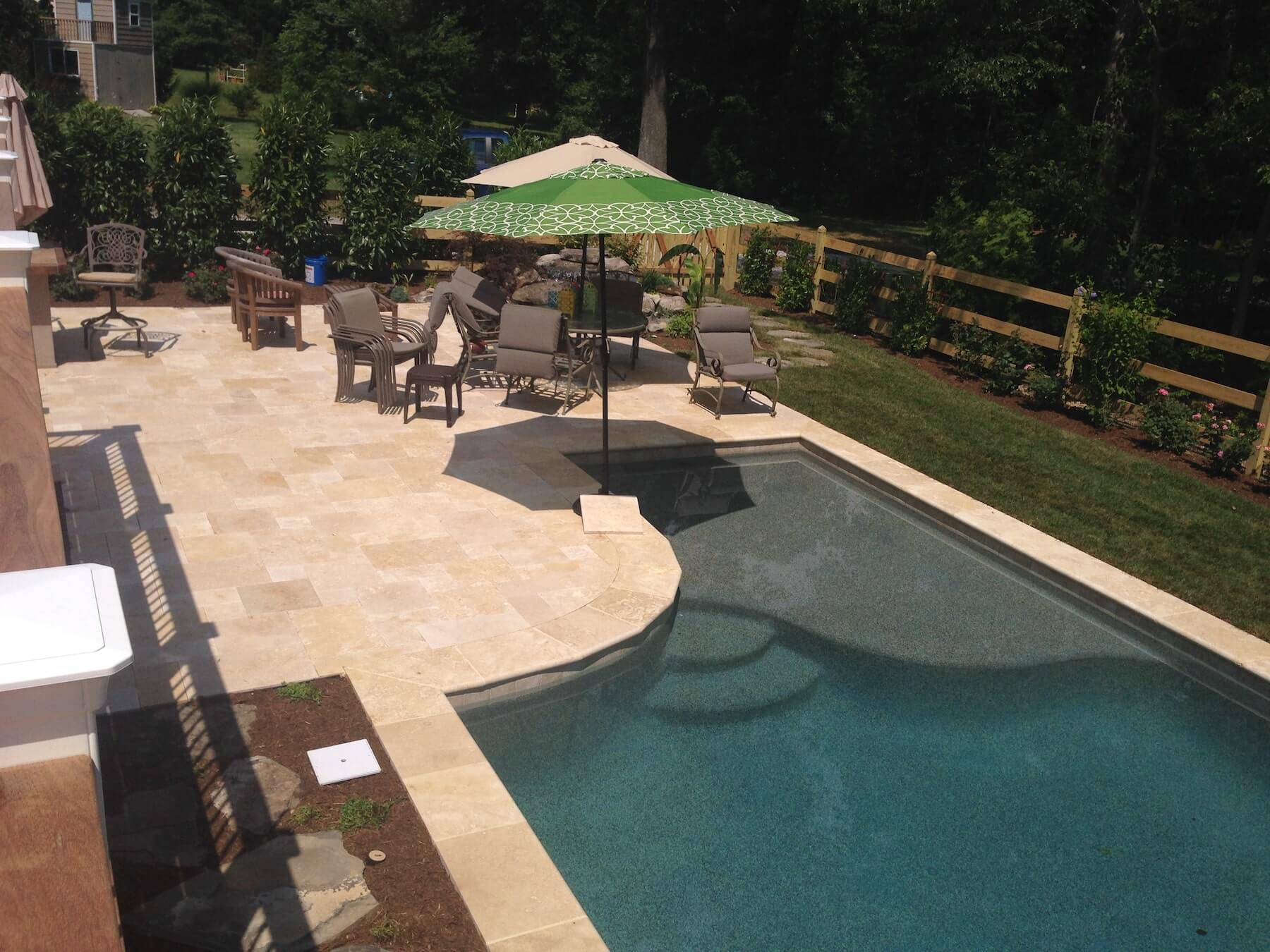 Custom Pool With Paver Patio Severna Park MD