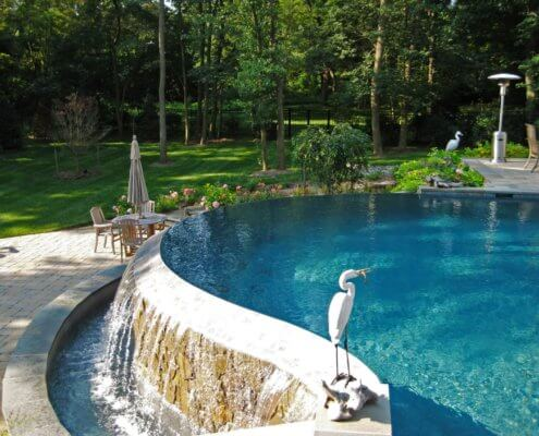 Freeform Pool With Paver Patio Clarksville MD