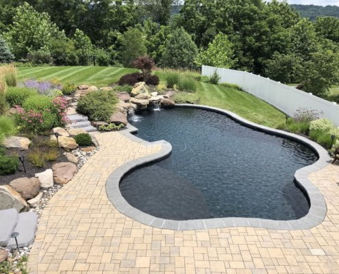 Freeform Pool Paver Deck Landscaping Middletown MD