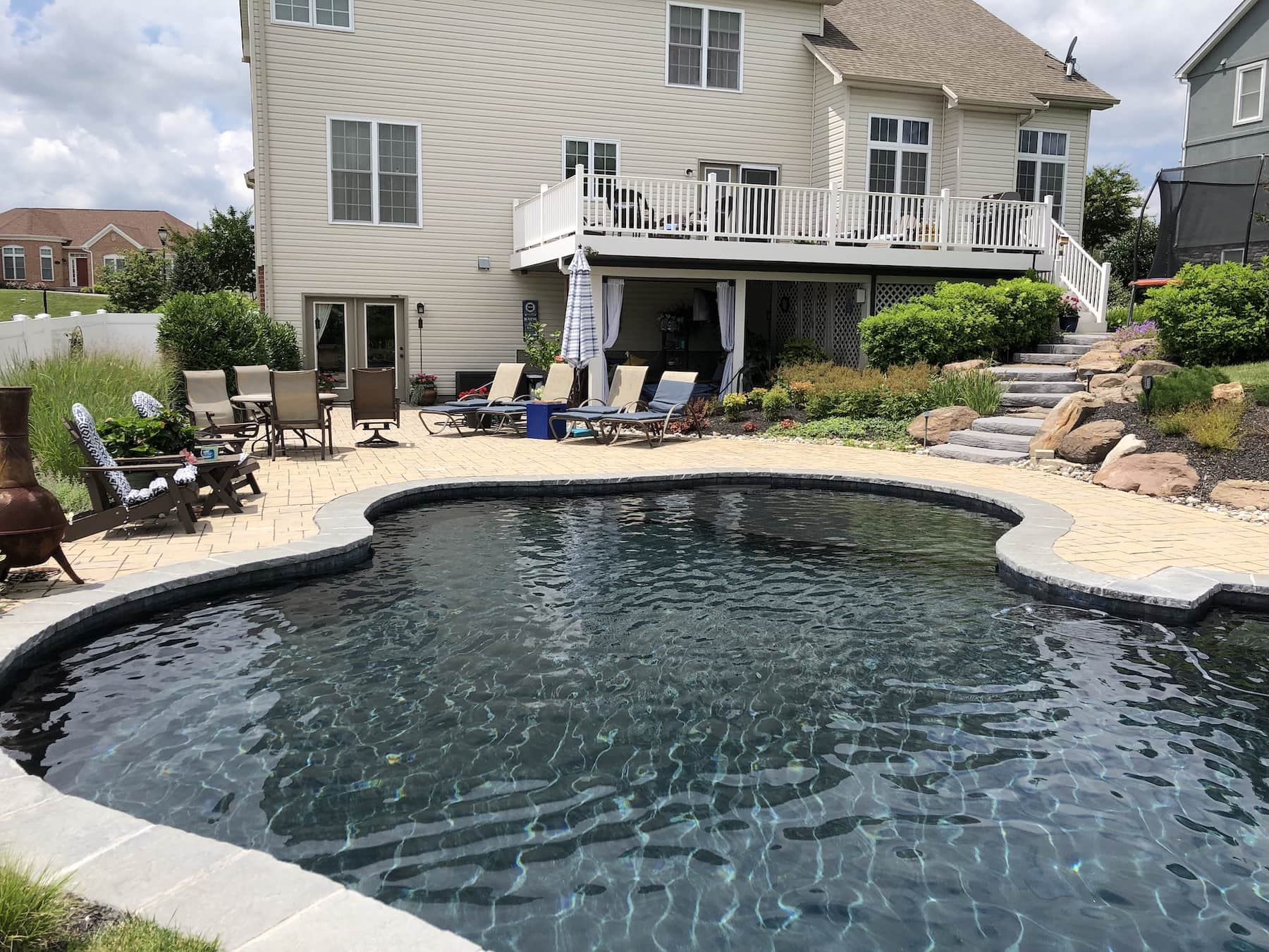 Freeform Pool & Paver Deck Middletown MD