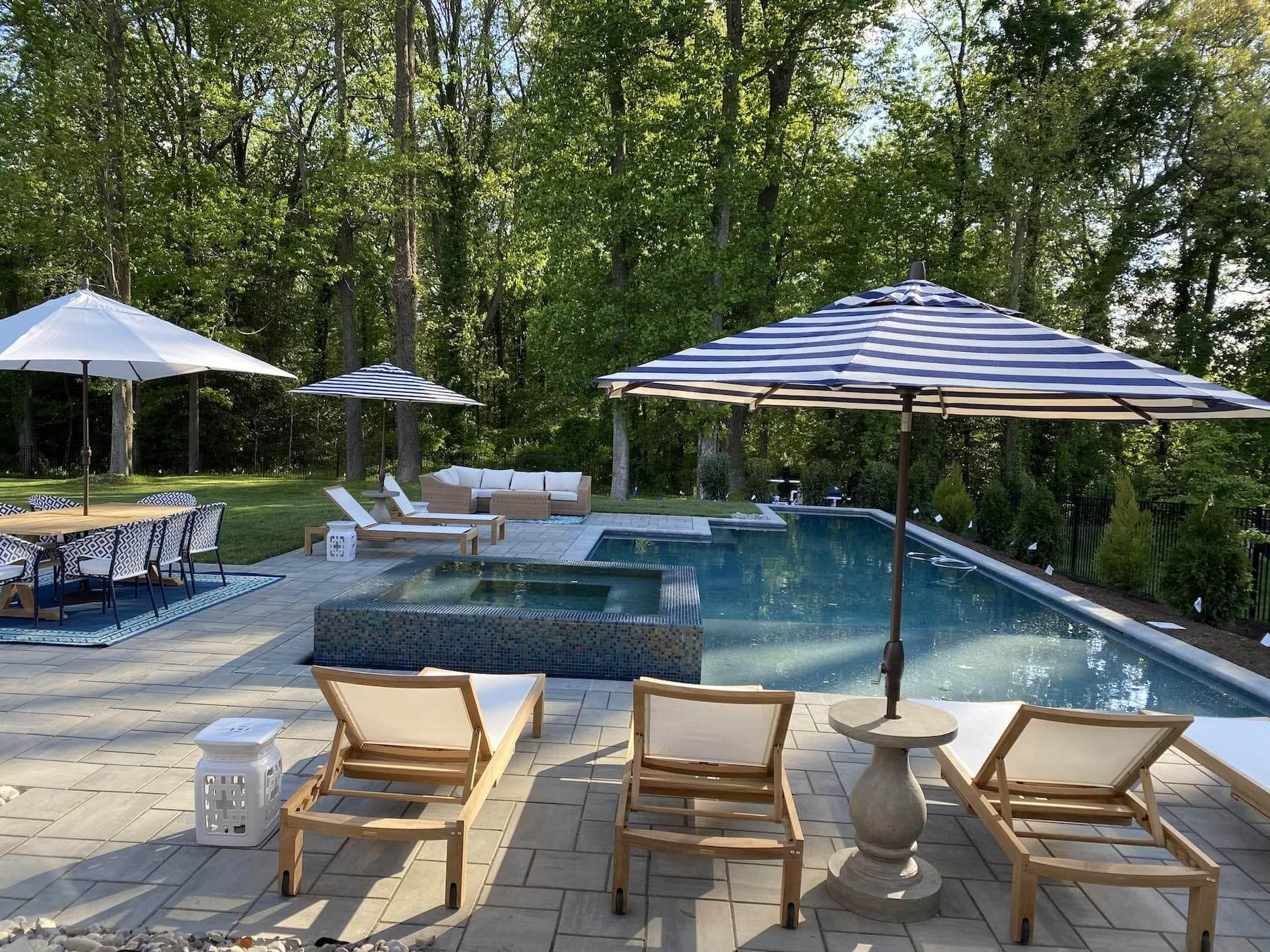 paver patio custom angular free form pool edgewater md