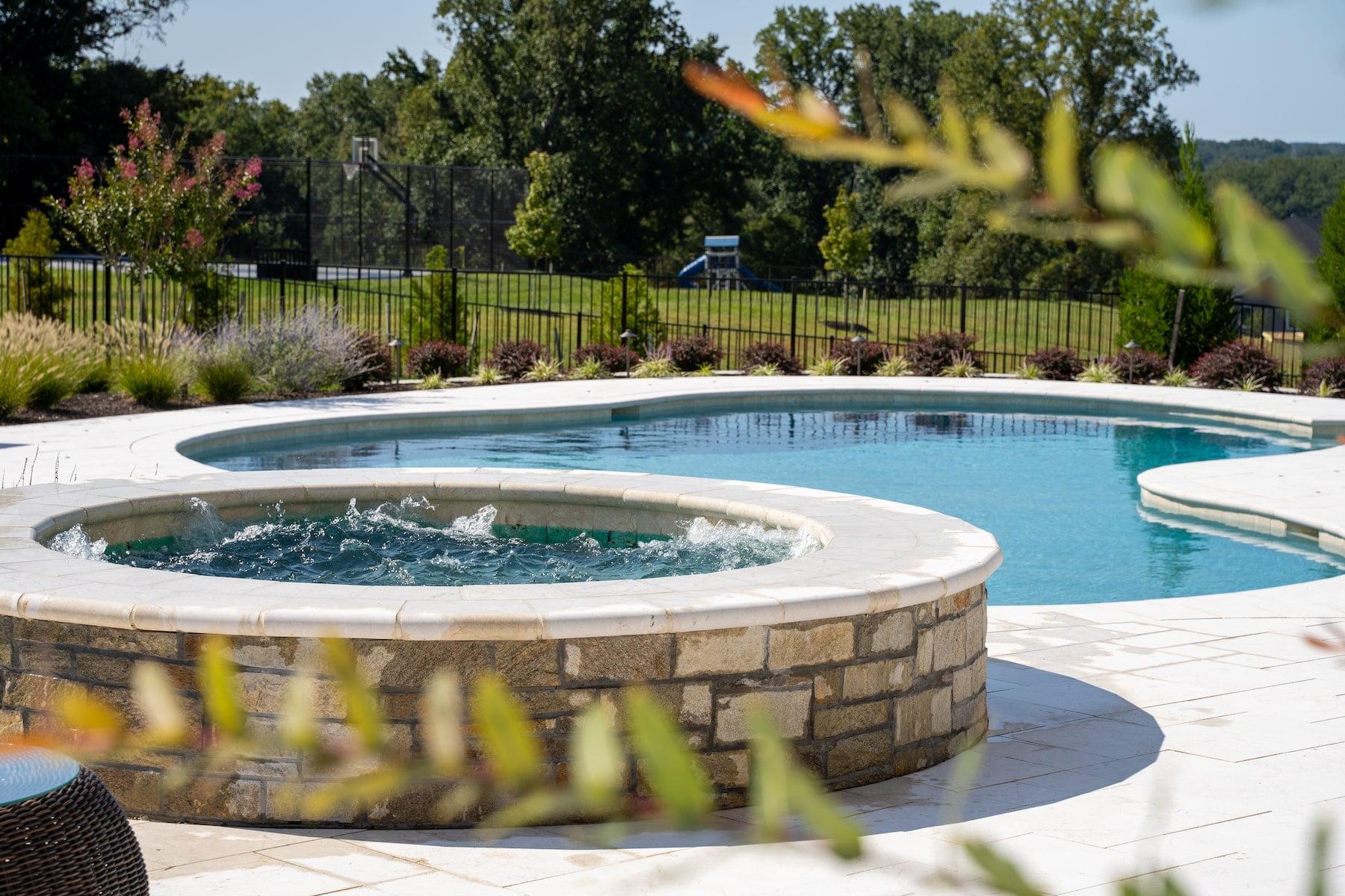 custom gunite pool and spa clarksville md