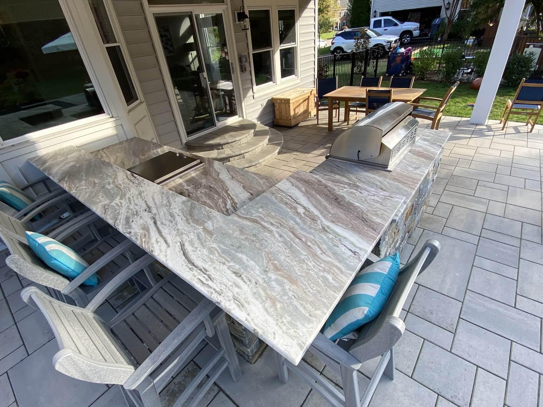 Granite Countertop Outdoor Kitchen Millersville MD